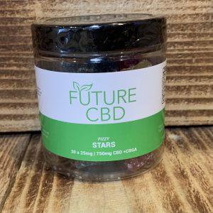 Fizzy Stars CBD + CBGA Gummies Vegan (750mg:30pcs)